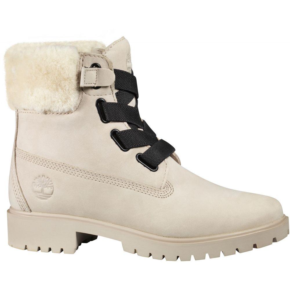 ティンバーランド Timberland レディース ブーツ シアリング シューズ・靴【Jayne 6'' Shearling Waterproof Casual Boots】Light Taupe Nubuck