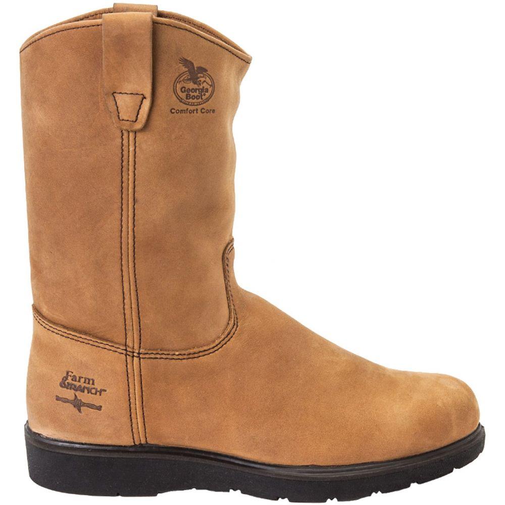 ジョージアブーツ Georgia Boots メンズ ブーツ ウェリントンブーツ ワークブーツ シューズ・靴【Georgia Boot Farm & Ranch Wellington Comfort Core Work Boots】Mississippi Tan