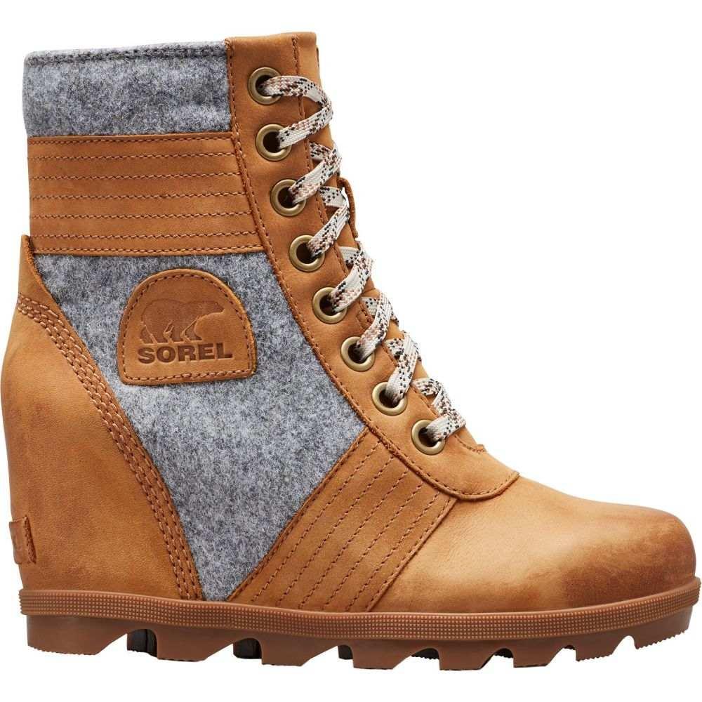 ソレル SOREL レディース ブーツ ウェッジソール シューズ・靴【Lexie Wedge Felt Casual Boots】Camel brown