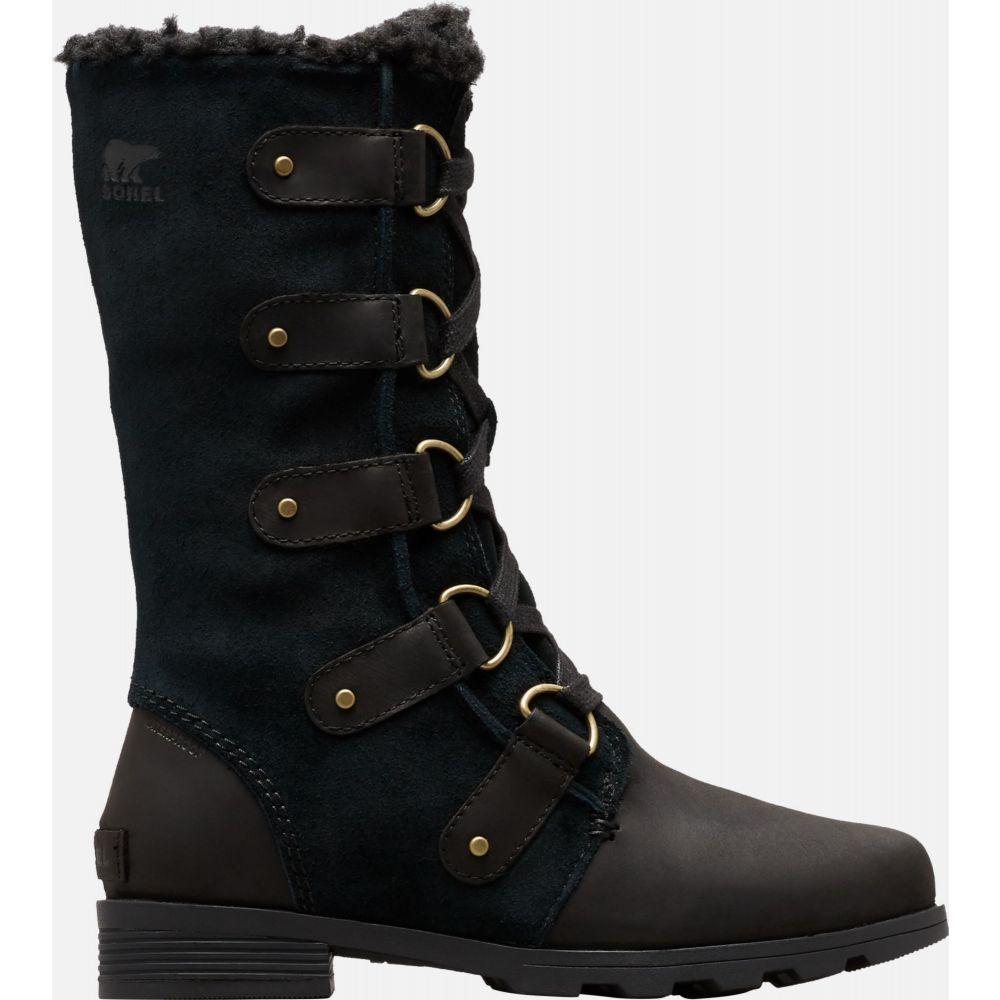 ソレル SOREL レディース ブーツ ウインターブーツ シューズ・靴【Emelie Lace 100g Waterproof Winter Boots】Black