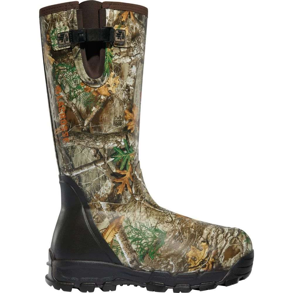 ラクロッセ LaCrosse メンズ ブーツ シューズ・靴【Alphaburly Pro Side-Zip 18'' Realtree Edge 1000g Rubber Hunting Boots】Real Tree Edge