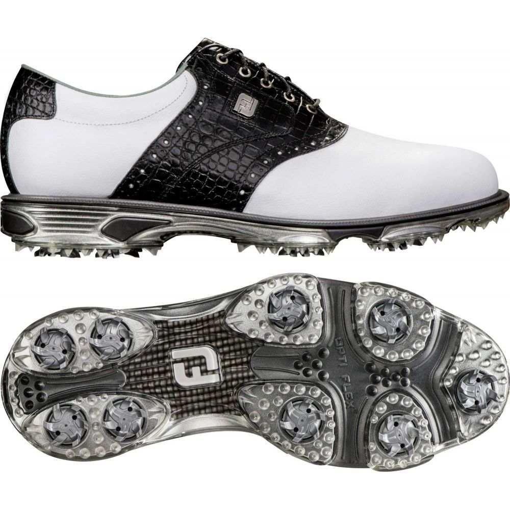 フットジョイ FootJoy メンズ ゴルフ シューズ・靴【DryJoys Tour Saddle Golf Shoes】白い/黒