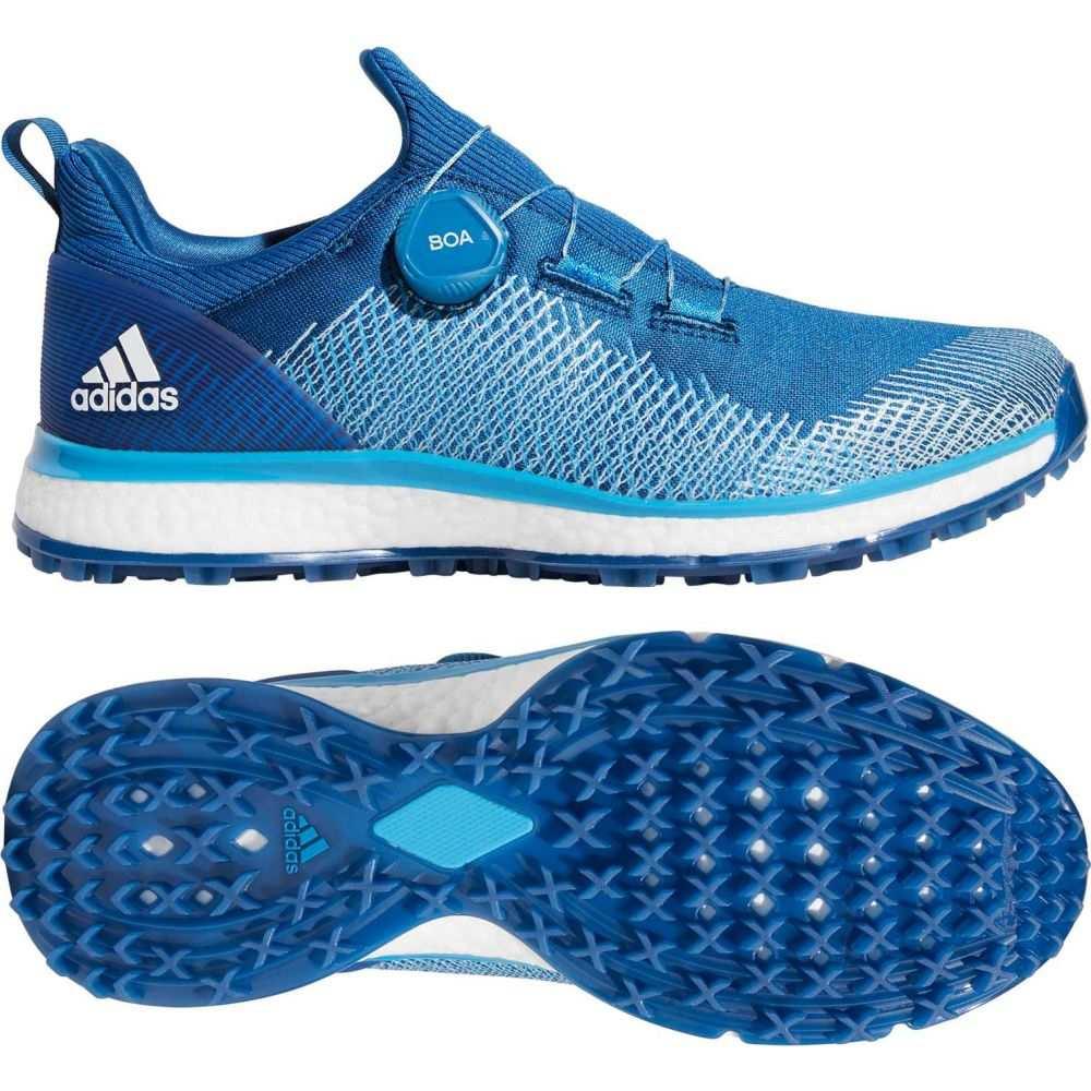 アディダス adidas メンズ ゴルフ シューズ・靴【FORGEFIBER BOA Golf Shoes】青/白い
