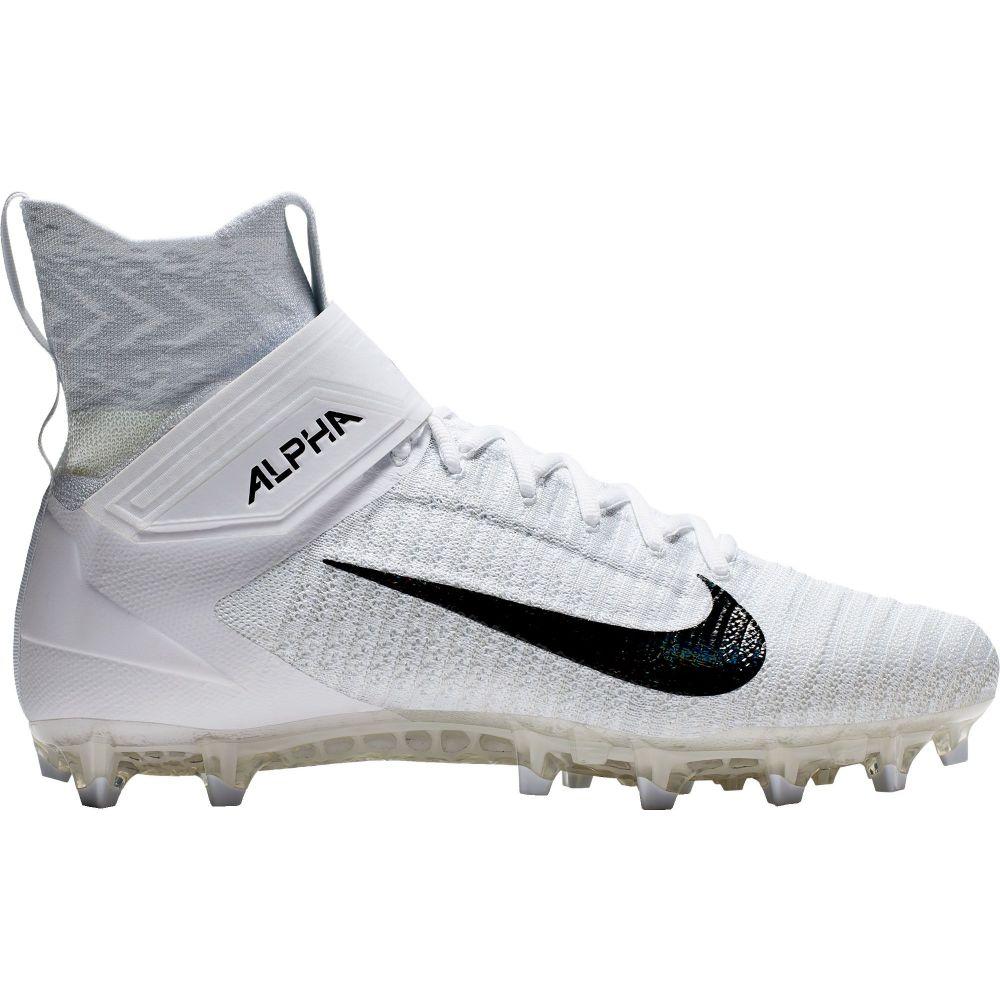 ナイキ Nike メンズ アメリカンフットボール スパイク シューズ・靴【Alpha Menace Elite 2 Football Cleats】White/Black