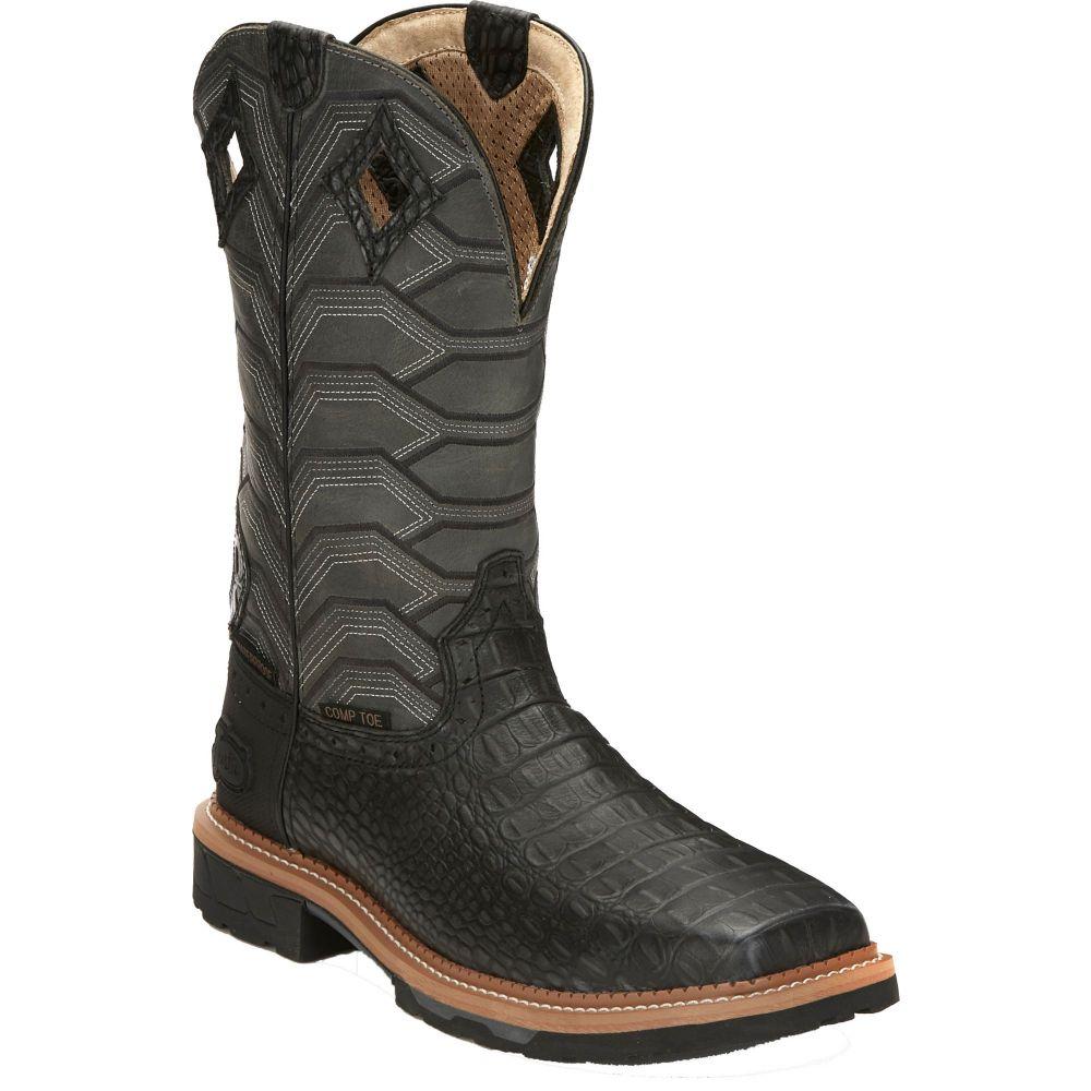 ジャスティンブーツ Justin Boots メンズ ブーツ ウェスタンブーツ ワークブーツ シューズ・靴【Justin Derrickman Waterproof Composite Toe Western Work Boots】Croc Print