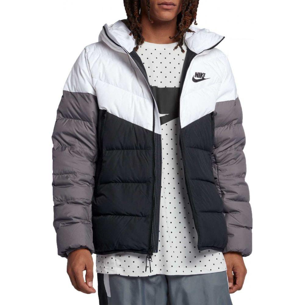 ナイキ Nike メンズ ダウン・中綿ジャケット アウター【Sportswear Windrunner Down Jacket】White/Black/Gunsmoke/Blk