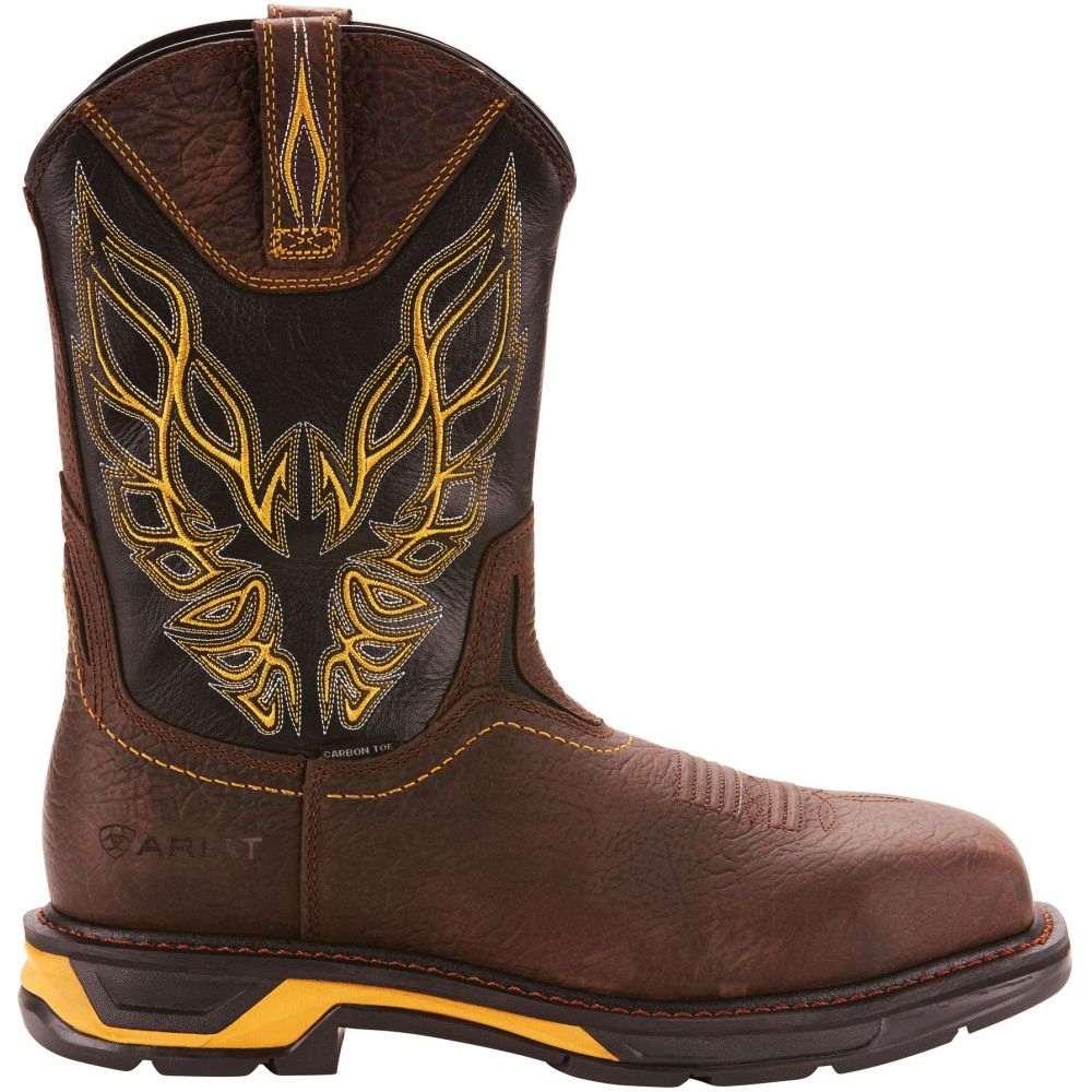 アリアト Ariat メンズ ブーツ ウェスタンブーツ ワークブーツ シューズ・靴【Workhog XT Firebird Composite Toe Western Work Boots】Bruin Brown