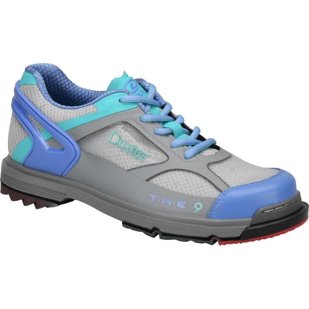 デクスター Dexter レディース ボウリング シューズ・靴【T. H. E. 9 HT Bowling Shoes】Grey/Periwinkle/Aqua