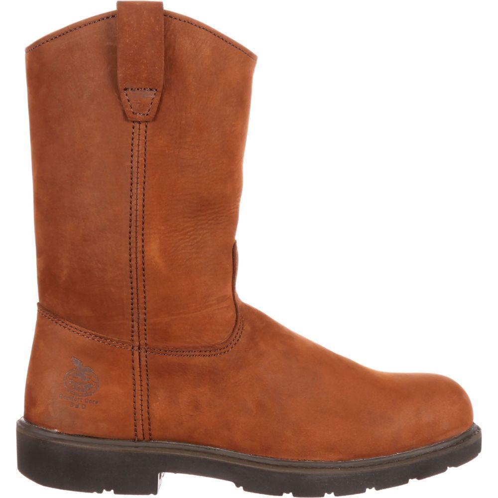 ジョージアブーツ Georgia Boots メンズ ブーツ ワークブーツ シューズ・靴【Georgia Boot Static-Dissipative Pull-On Steel Toe Work Boots】Brown
