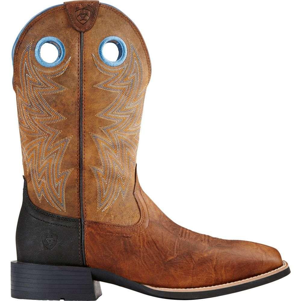 アリアト Ariat メンズ ブーツ ウェスタンブーツ シューズ・靴【Heritage Cowhorse Bar Top Western Boots】Brown