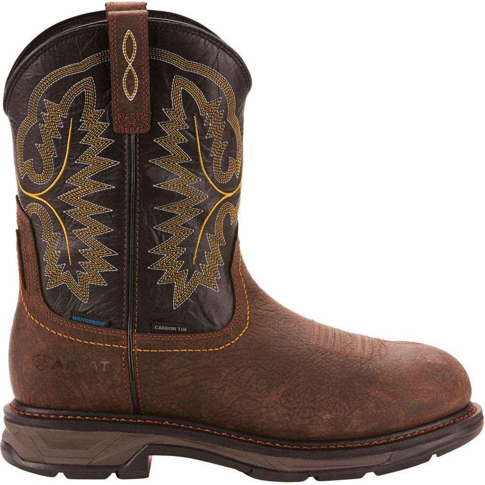 アリアト Ariat メンズ ブーツ ウェスタンブーツ ワークブーツ シューズ・靴【Workhog XT Waterproof Composite Toe Western Work Boots】Bruin Brown