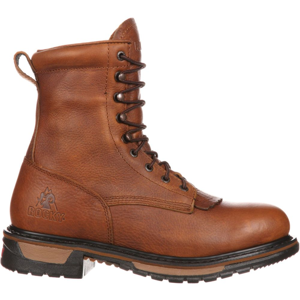 ロッキー Rocky メンズ ブーツ ワークブーツ シューズ・靴【Original Ride Lacer 8'' Waterproof Work Boots】Tan Pitstop