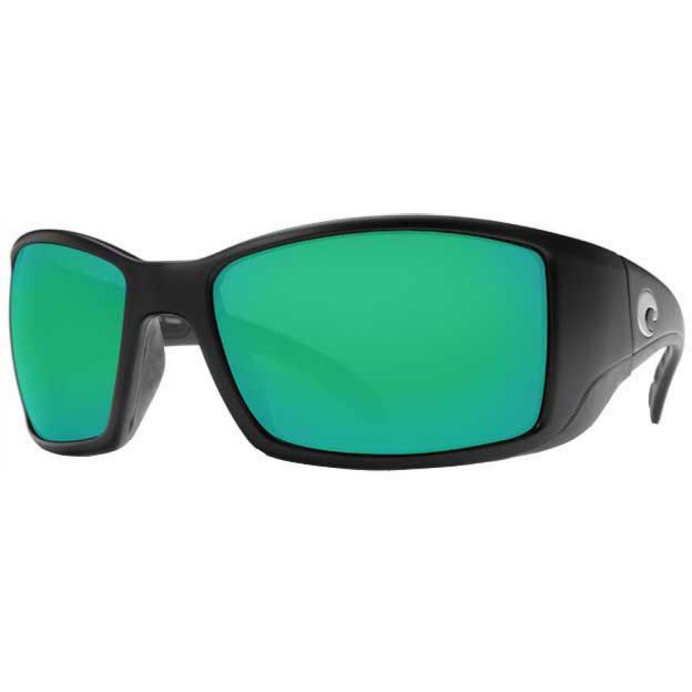 コスタデルメール Costa Del Mar メンズ メガネ・サングラス 【Blackfin 580G Polarized Sunglasses】Black/Green Mirror