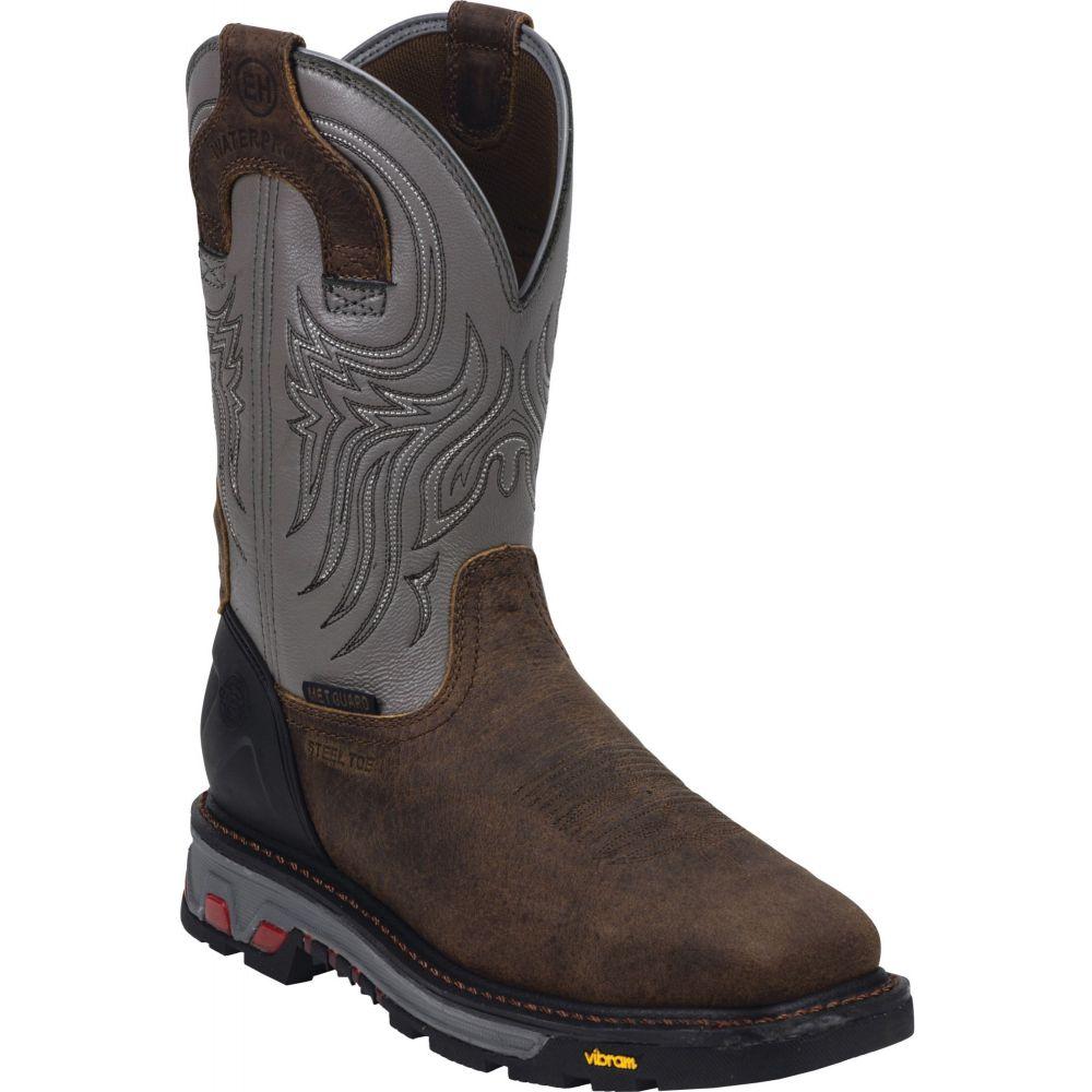 ジャスティンブーツ Justin Boots メンズ ブーツ ウェスタンブーツ ワークブーツ シューズ・靴【Justin Tanker Waterproof Steel Toe Western Work Boots】Brown
