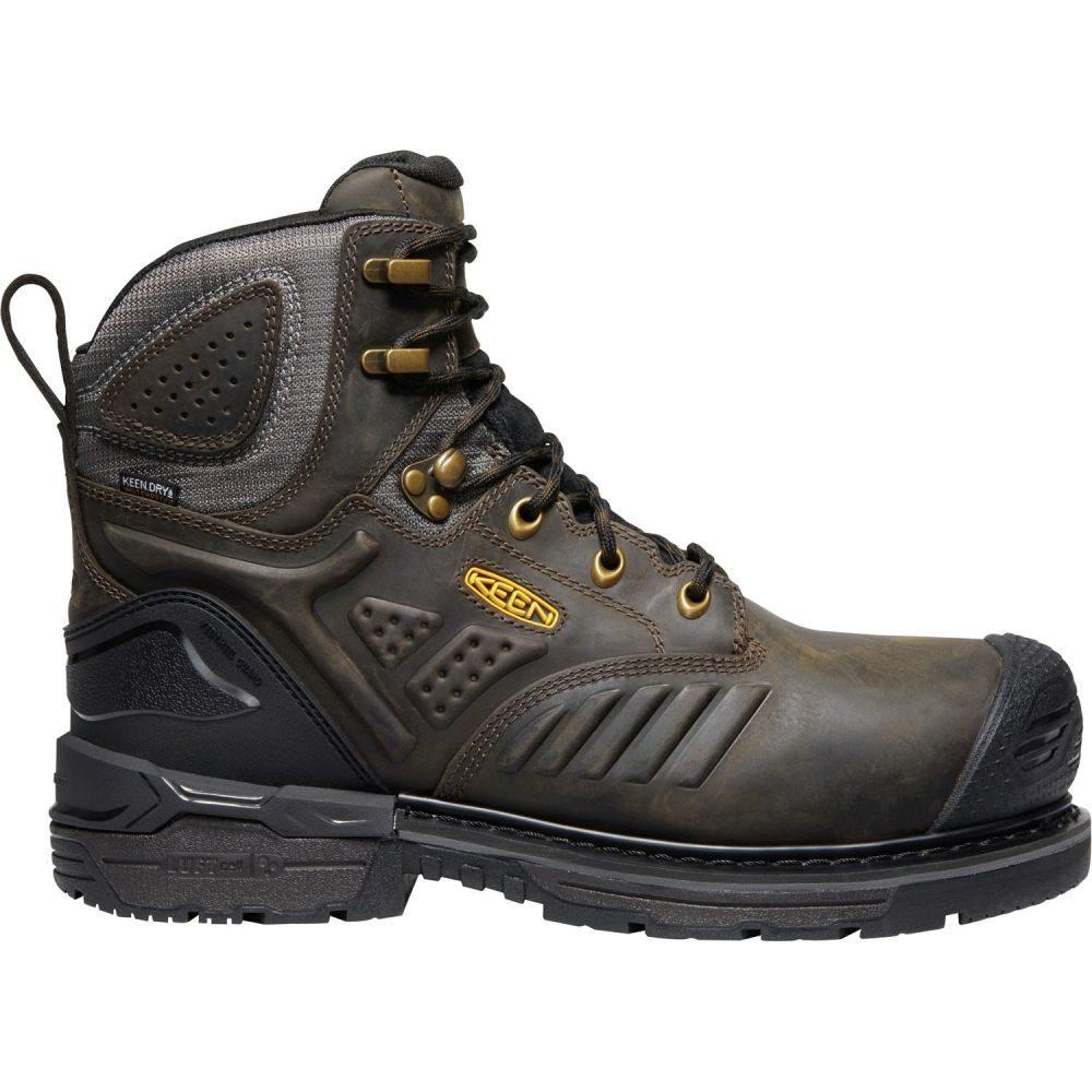 キーン Keen メンズ ブーツ ワークブーツ シューズ・靴【KEEN Philadelphia 6'' 400G Waterproof Composite Toe Work Boots】Cascade Brown