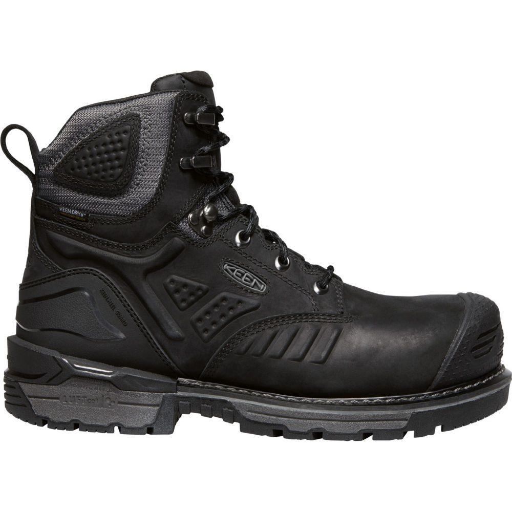 キーン Keen メンズ ブーツ ワークブーツ シューズ・靴【KEEN Philadelphia 6'' Waterproof Work Boots】Black/Steel Grey