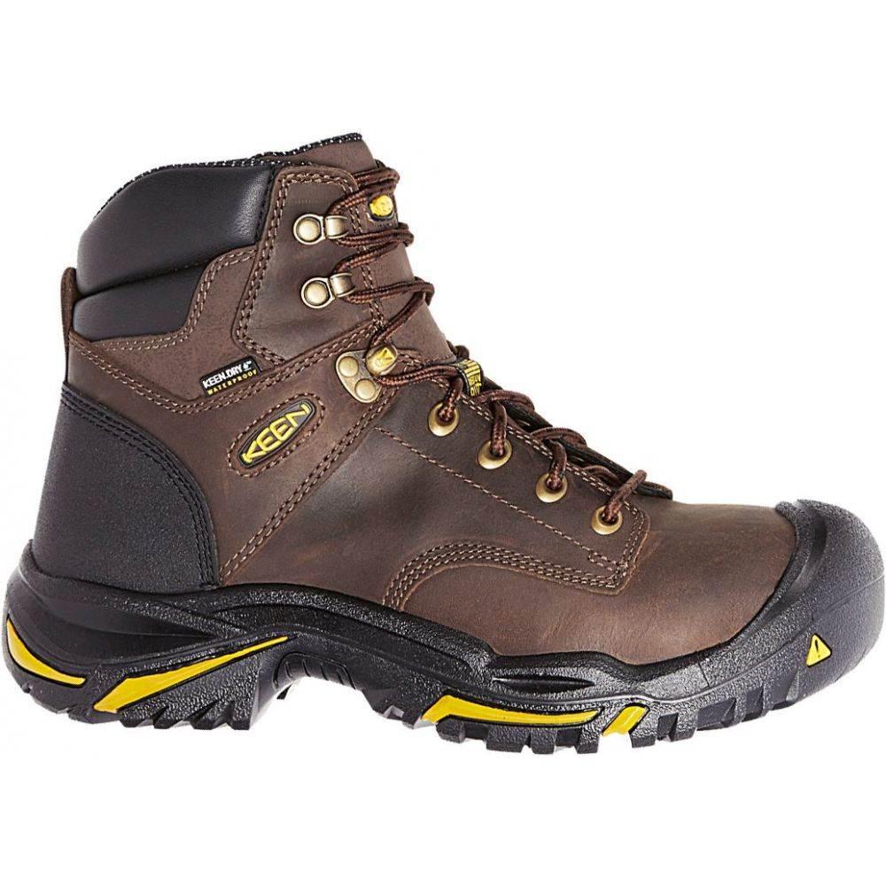 キーン Keen メンズ ブーツ ワークブーツ シューズ・靴【KEEN Mt. Vernon 6'' Waterproof Steel Toe Work Boots】Cascade Brown
