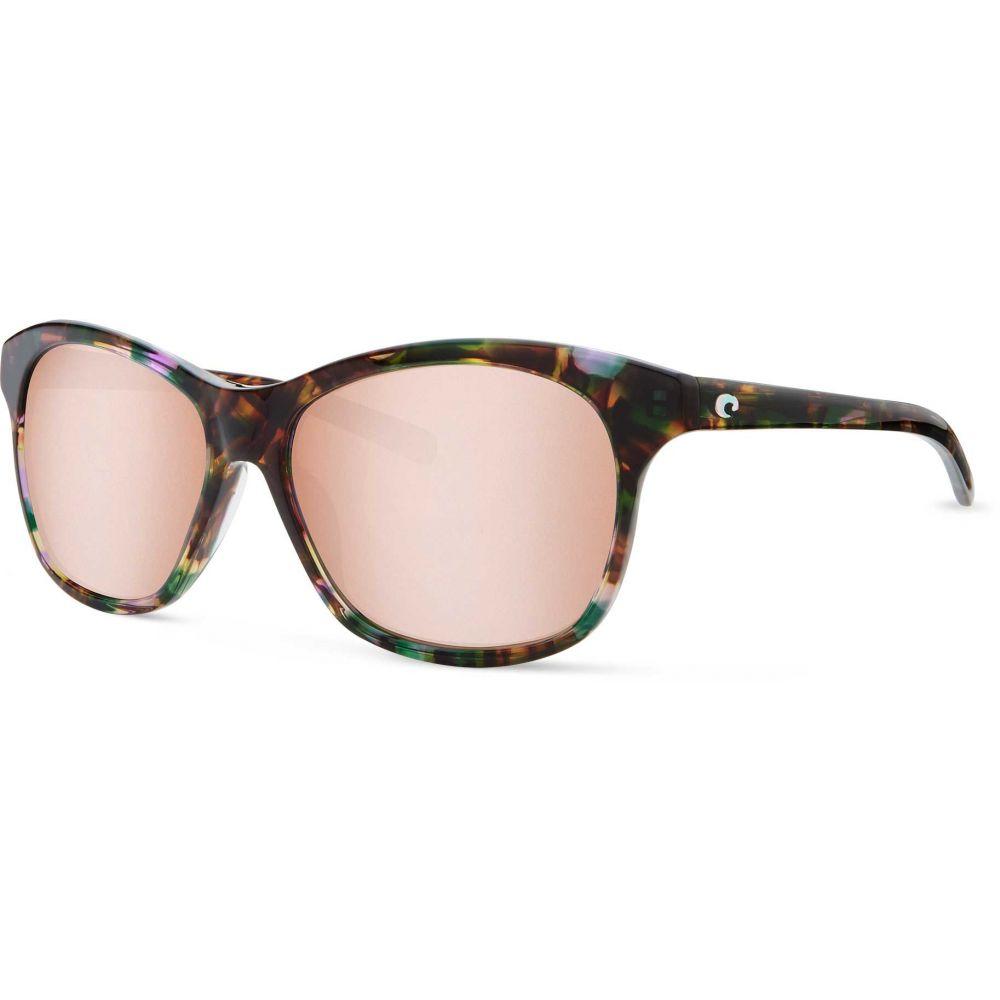 コスタデルメール Costa Del Mar レディース メガネ・サングラス 【Sarasota 580G Polarized Sunglasses】Silver