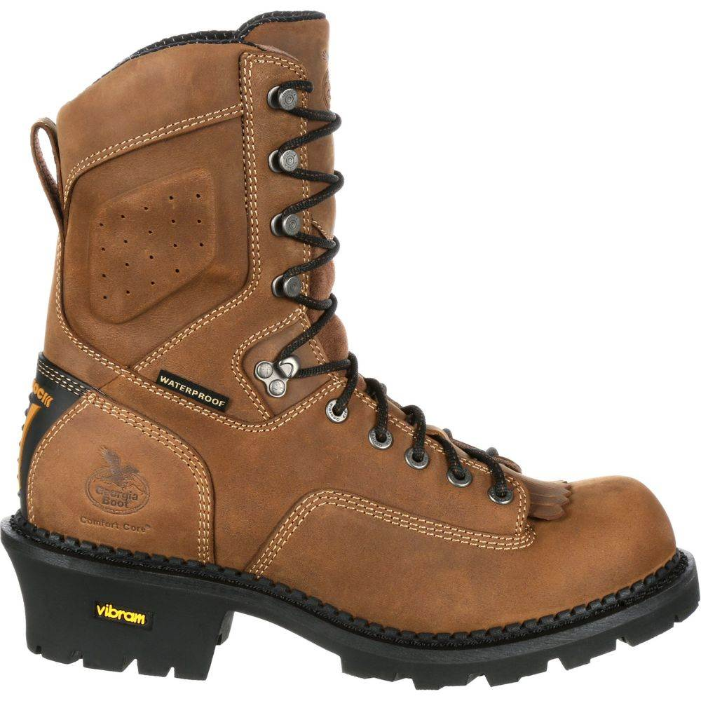 ジョージアブーツ Georgia Boots メンズ ブーツ ワークブーツ シューズ・靴【Georgia Boot ComfortCore 400g Waterproof EH Composite Toe Work Boots】Brown