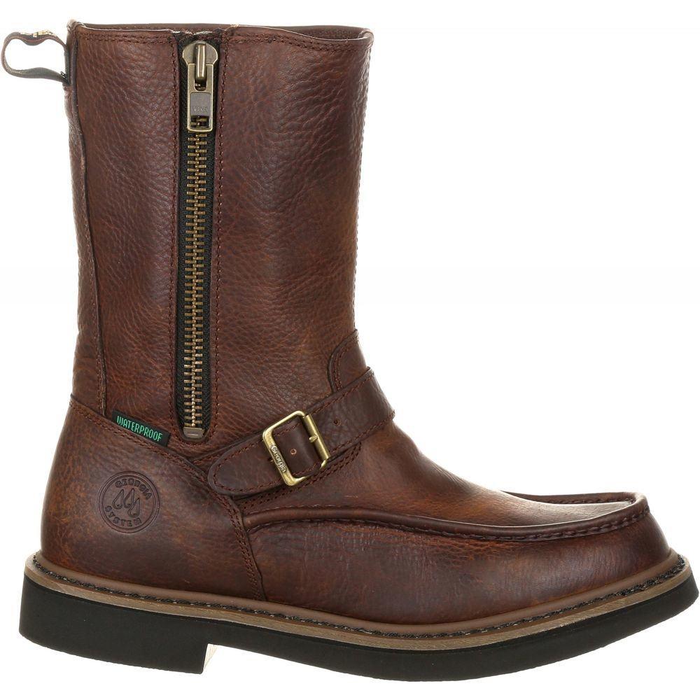 ジョージアブーツ Georgia Boots メンズ ブーツ ウェリントンブーツ ワークブーツ シューズ・靴【Georgia Boot Side Zip Wellington Waterproof Work Boots】Brown