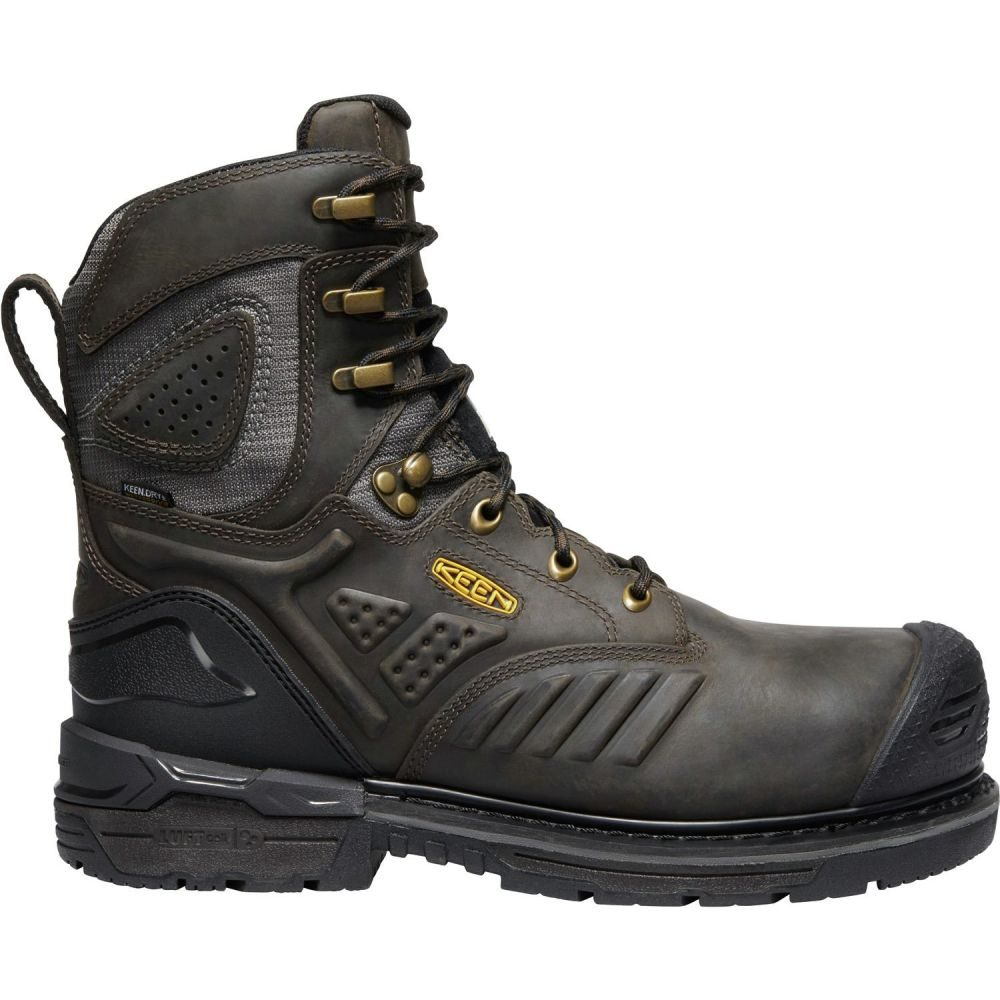 キーン Keen メンズ ブーツ ワークブーツ シューズ・靴【KEEN CSA Philadelphia+ 8'' 600g Waterproof Composite Toe Work Boots】Cascade Brown