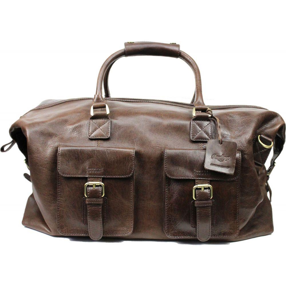 ローリングス Rawlings ユニセックス ボストンバッグ・ダッフルバッグ バッグ【Frankie 19'' Leather Duffle Bag】Brown