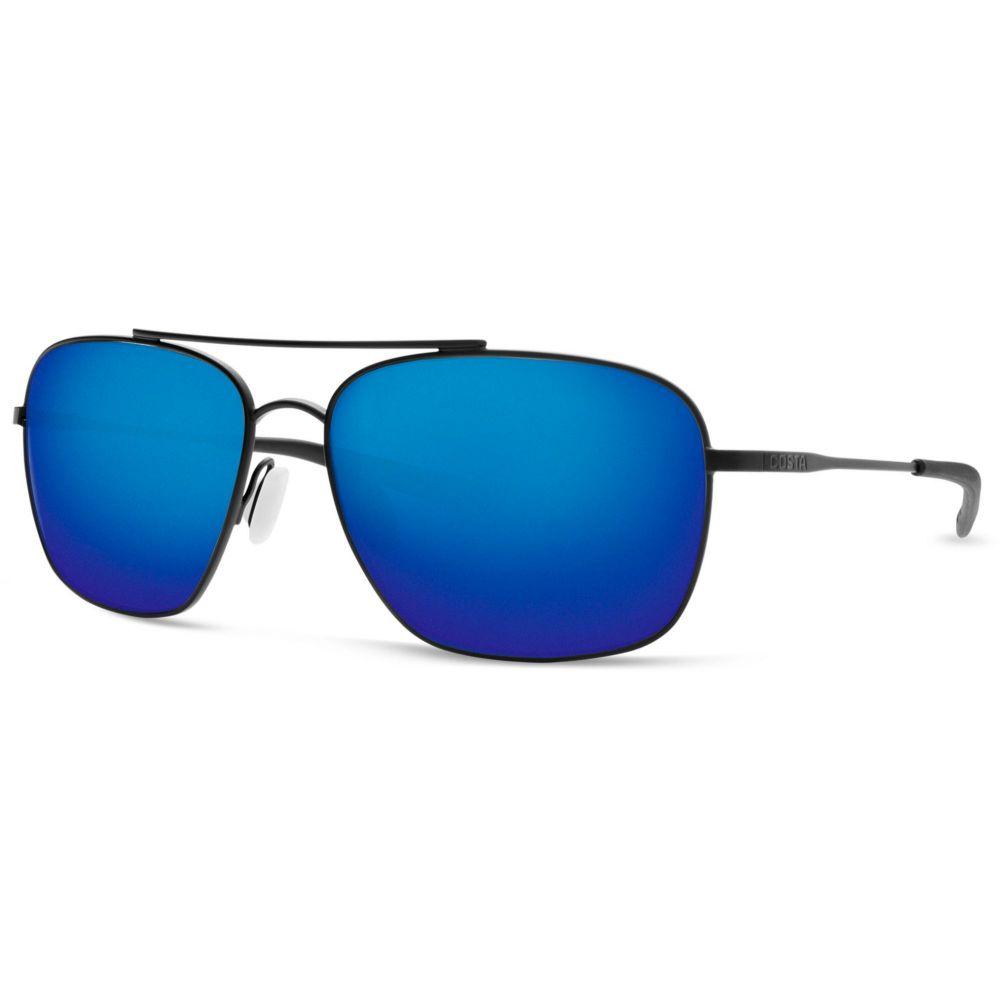 コスタデルメール Costa Del Mar メンズ メガネ・サングラス 【Canaveral 580G Polarized Sunglasses】Satin Black/Blue Mirror