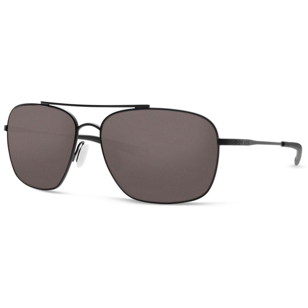 コスタデルメール Costa Del Mar メンズ メガネ・サングラス 【Canaveral 580G Polarized Sunglasses】Satin Black/Gray