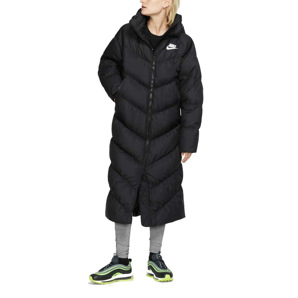 ナイキ Nike レディース コート アウター【Sportswear Long Statement Parka】Black