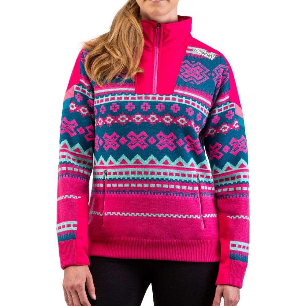 スパイダー Spyder レディース スウェット・トレーナー トップス【Legacy GTX Half Zip Pullover Sweatshirt】Berry