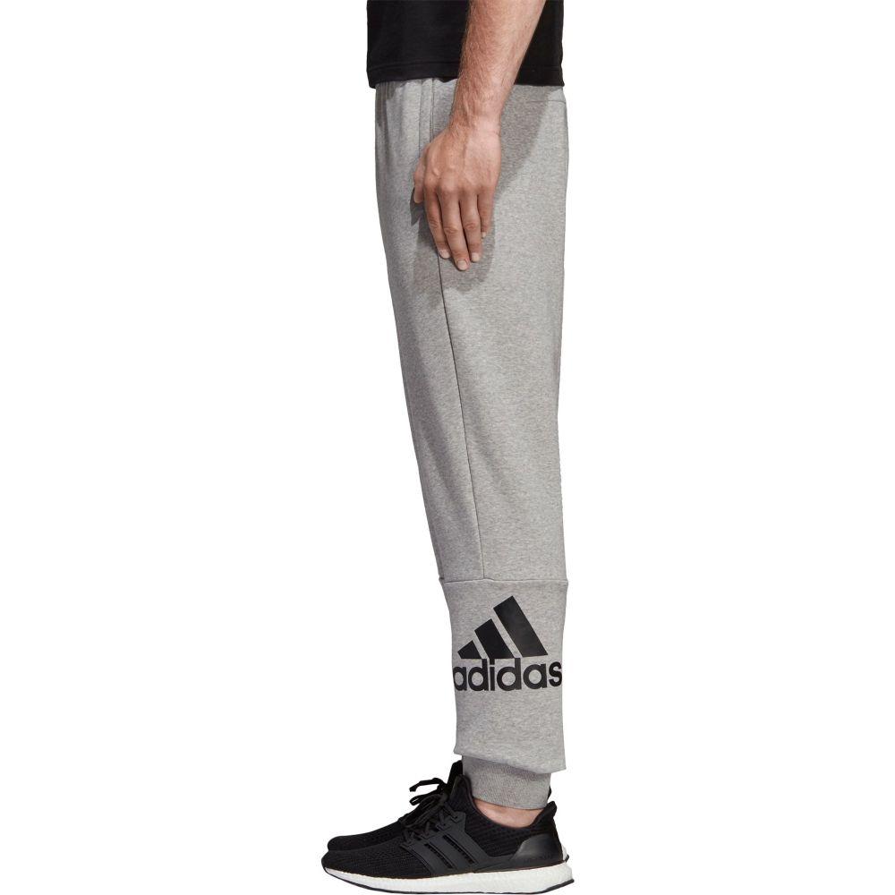 アディダス adidas メンズ ボトムス・パンツ テーパードパンツ【Must Haves Badge of Sport Logo Tapered Pants】Medium Grey Heather/Black