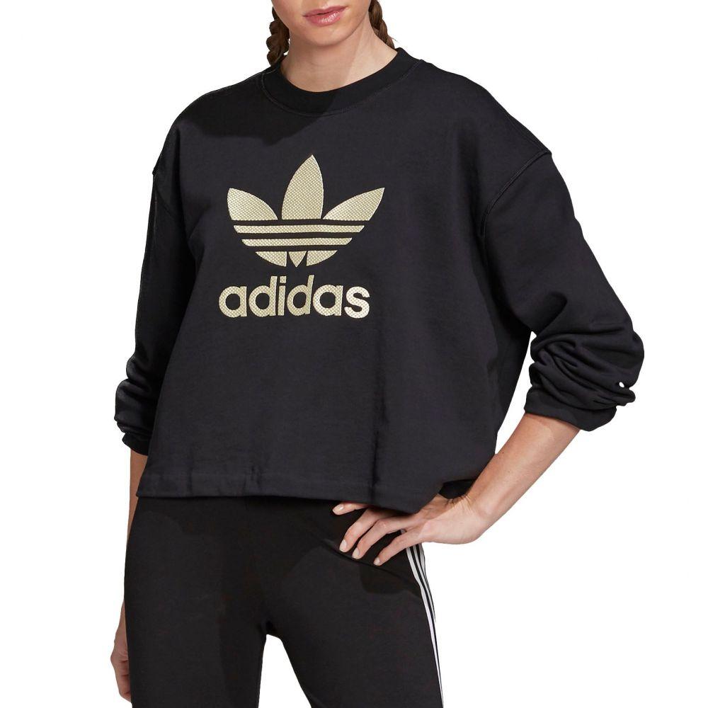 アディダス adidas レディース トップス 【Original Trefoil Crewneck】Black/Gold