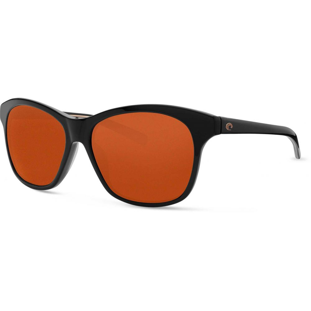 コスタデルメール Costa Del Mar レディース メガネ・サングラス 【Sarasota 580G Polarized Sunglasses】Shiny Black/Copper