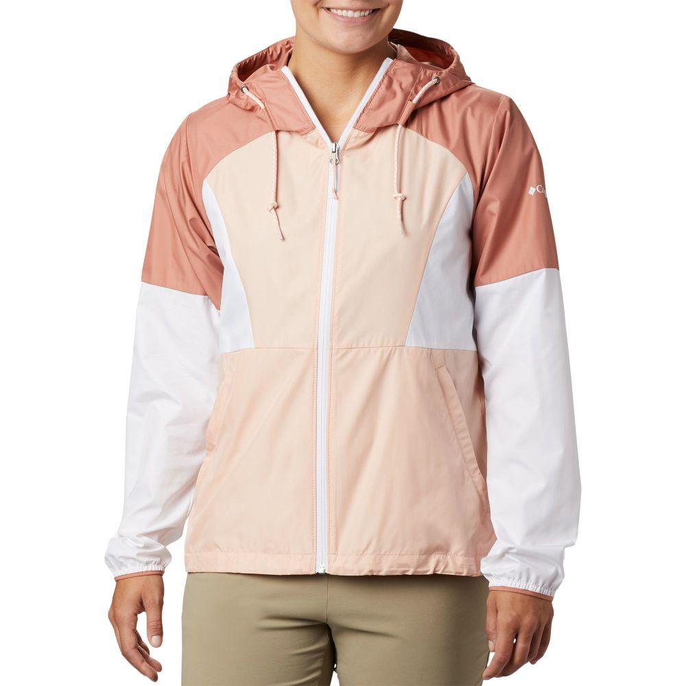 コロンビア Columbia レディース ジャケット ウィンドブレーカー アウター【Side Hill Windbreaker Jacket】Peach Cld/Wht/Cedar Blush