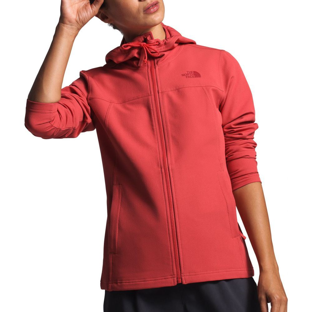 ザ ノースフェイス The North Face レディース フリース トップス【Tekno Ridge Full-Zip Fleece Hoodie】Sunbaked Red
