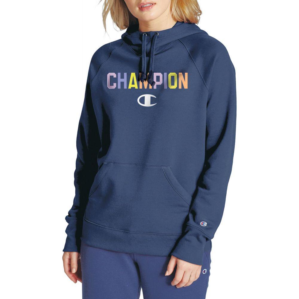 チャンピオン Champion レディース フリース トップス【Powerblend Fleece Hoodie】Athletic Navy