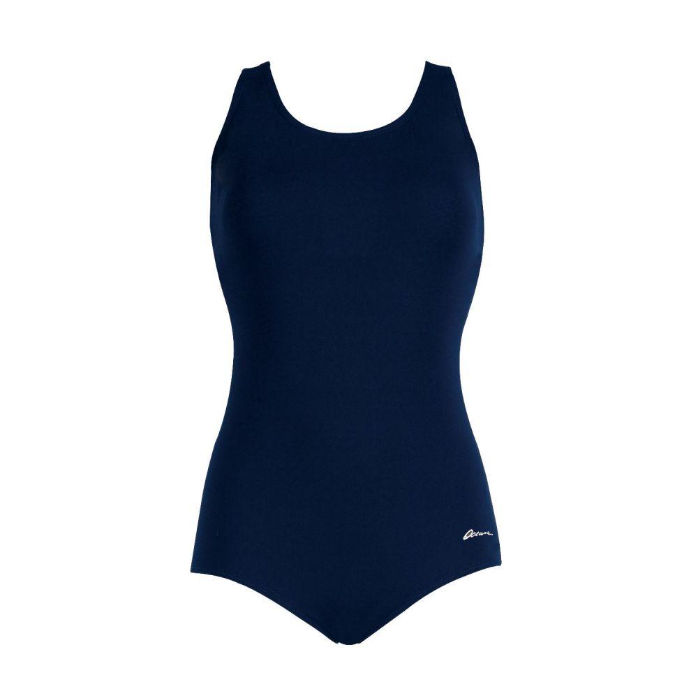 ドルフィン Dolfin レディース ワンピース 水着・ビーチウェア【Aquashape Conservative Lap Suit】Navy