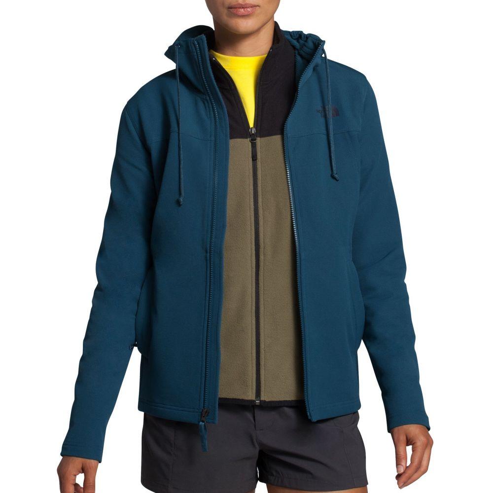 ザ ノースフェイス The North Face レディース フリース トップス【Tekno Ridge Full-Zip Fleece Hoodie】Blue Wing Teal