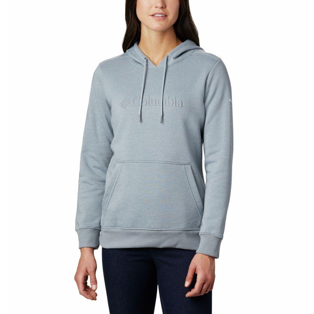 コロンビア Columbia レディース パーカー トップス【Logo Hoodie】Tradewinds Grey Heather