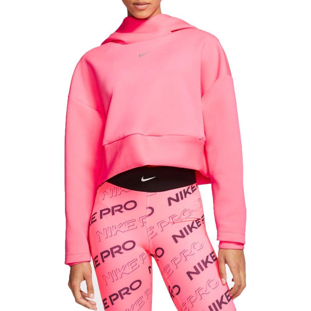 ナイキ Nike レディース フリース トップス【Pro Pullover Fleece Hoodie】Digital Pink