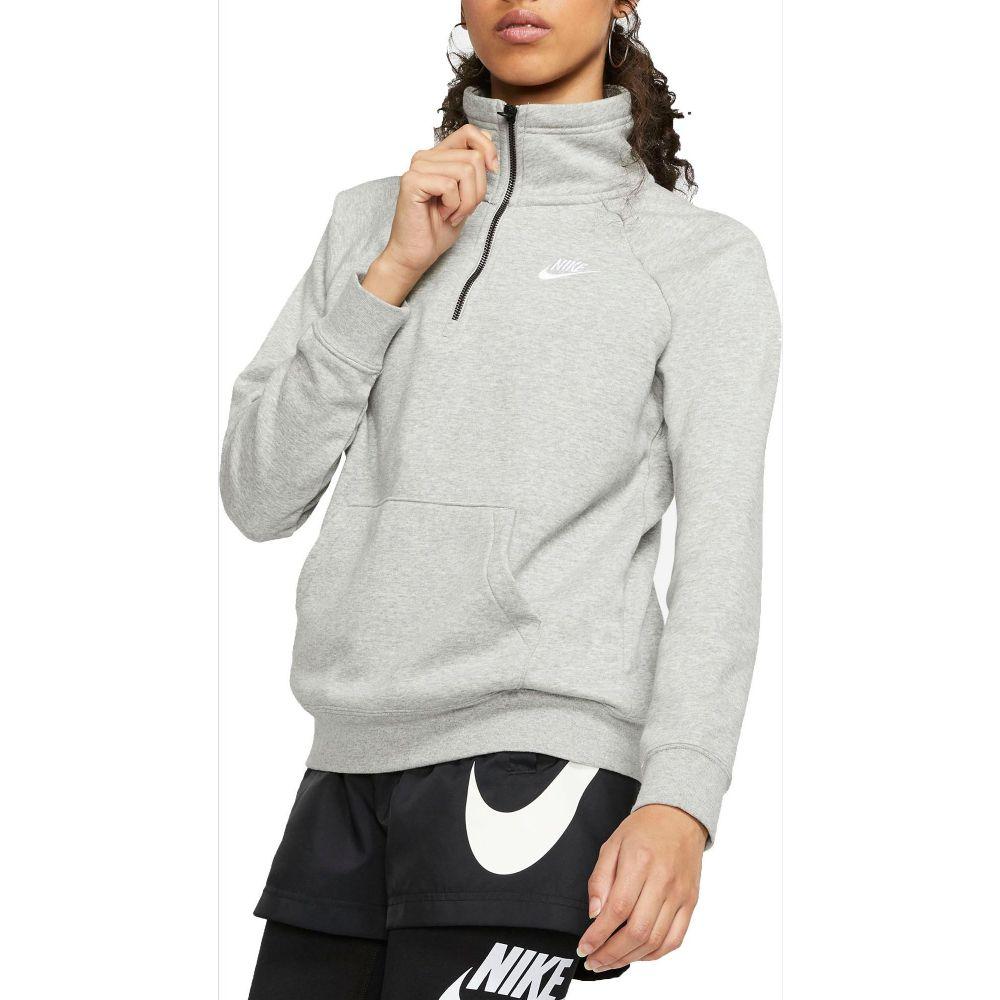 ナイキ Nike レディース フリース ハーフジップ トップス【Sportswear Essential Quarter Zip Fleece Pullover】Dk Grey Heather