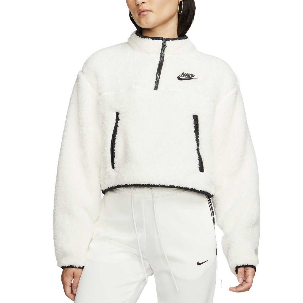 ナイキ Nike レディース フリース トップス【Sportswear 1/4 Zip Fleece Crop Pullover】Pale Ivory