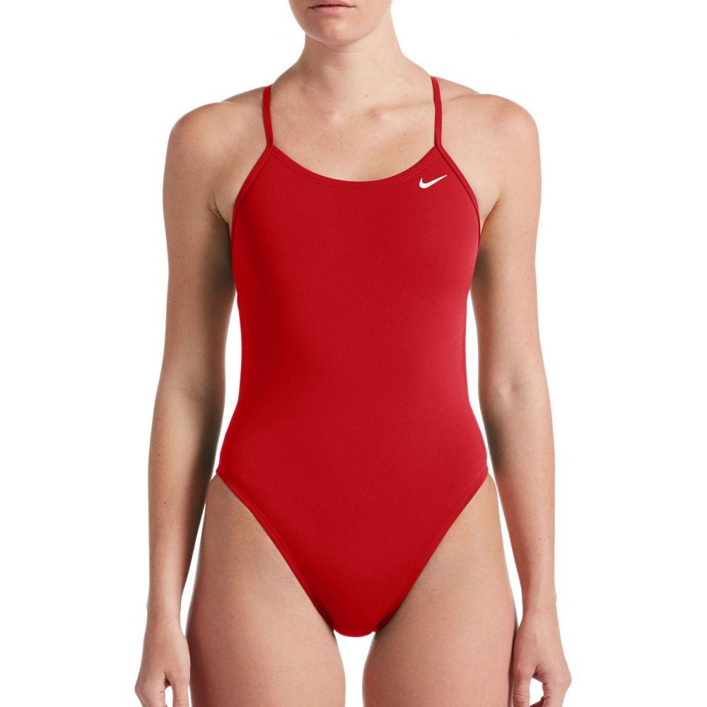 ナイキ Nike レディース ワンピース 水着・ビーチウェア【Solid Cut-Out Back One Piece Swimsuit】University Red