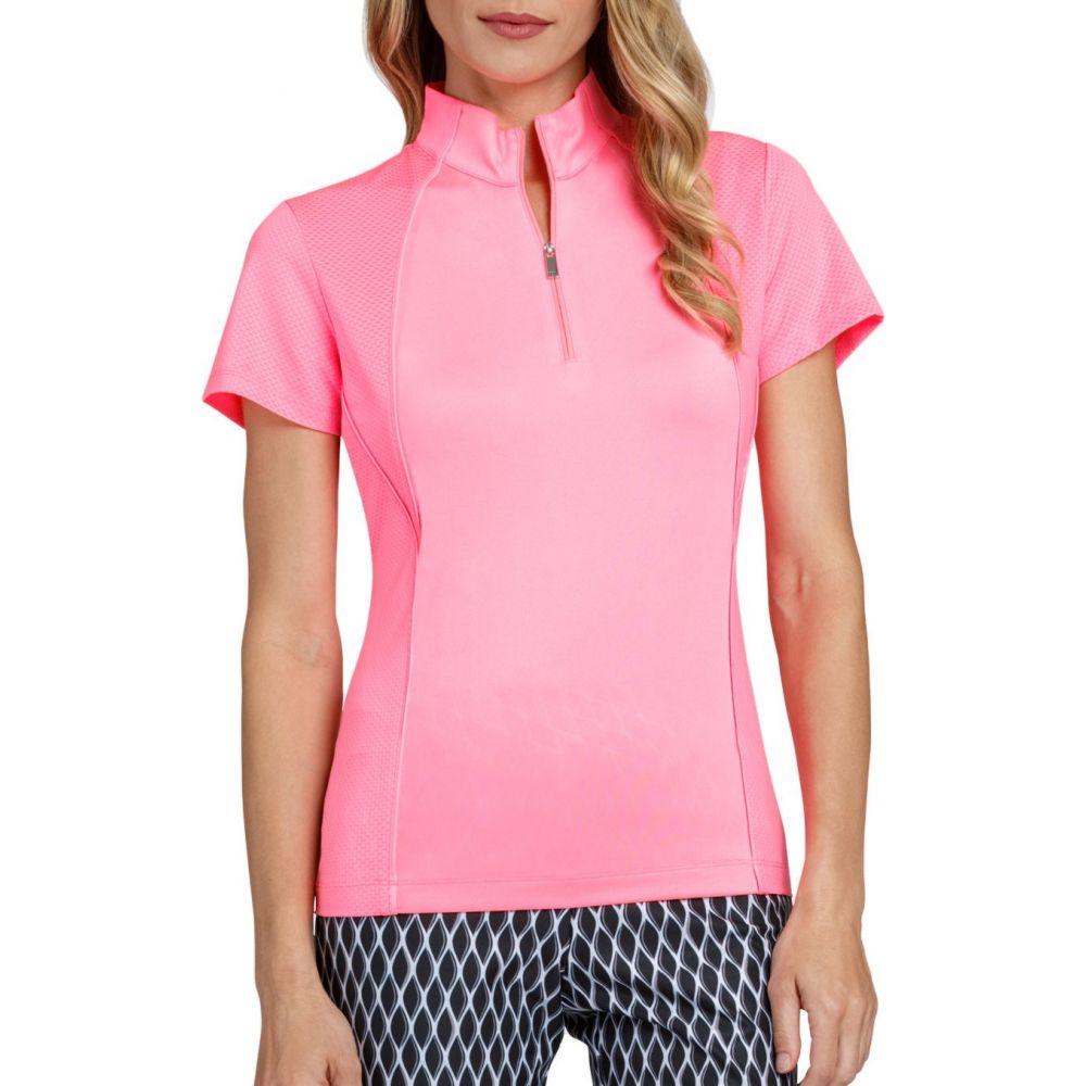 テイル Tail レディース ゴルフ 半袖 トップス【Short Sleeve V-Mock Neck Golf Polo - Extended Sizes】Taffy