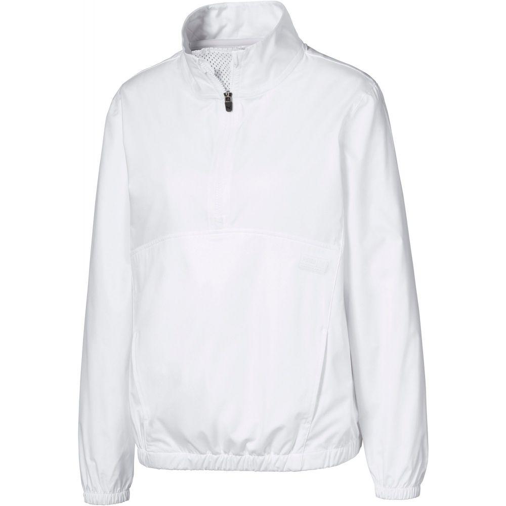 プーマ PUMA レディース ゴルフ ウィンドブレーカー アウター【1/2-Zip Long Sleeve Golf Windbreaker】Bright White