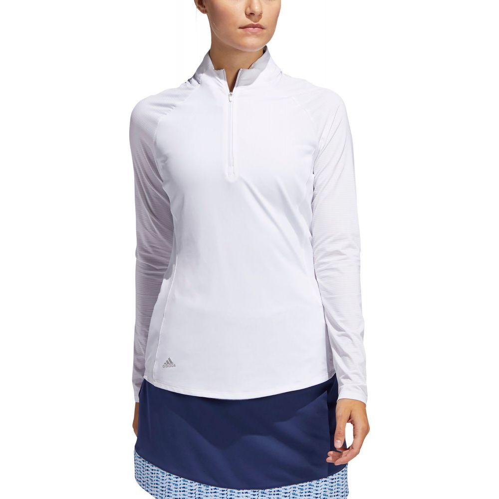 アディダス adidas レディース ゴルフ トップス【UV 1/4-Zip Golf Pullover】White
