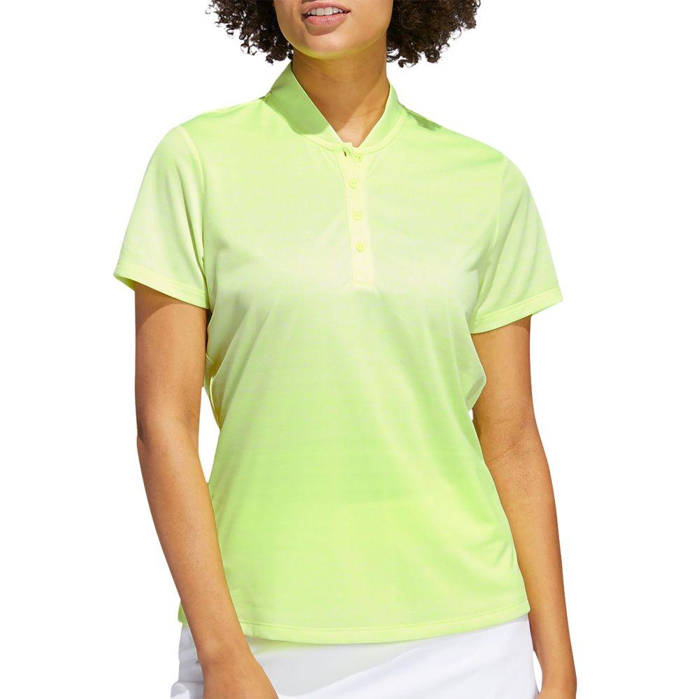 アディダス adidas レディース ゴルフ 半袖 トップス【Gradient Short Sleeve Golf Polo】Solar Yellow