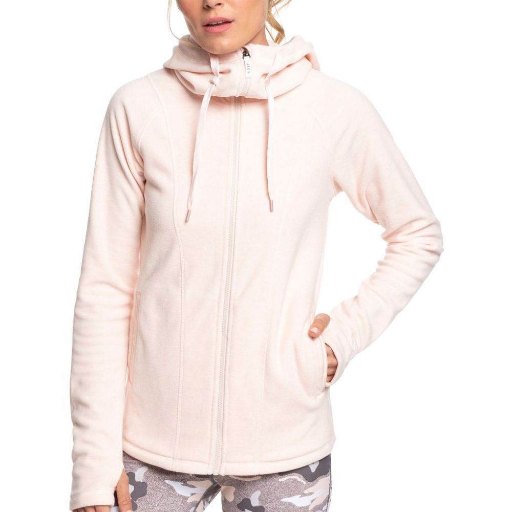 ロキシー Roxy レディース フリース トップス【Electric Feeling 4 Full Zip Fleece Hoodie】Peach