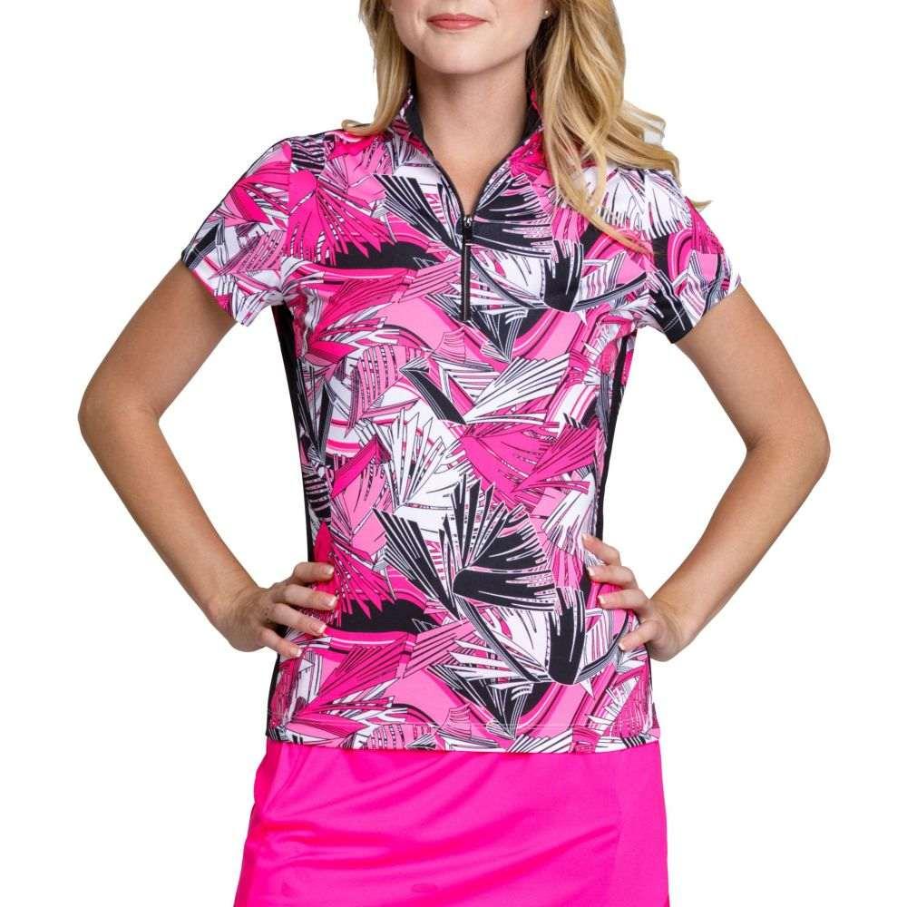テイル Tail レディース ゴルフ 大きいサイズ トップス【Short Sleeve 1/4 Zip Golf Top - Plus Size】Berry Sorbet