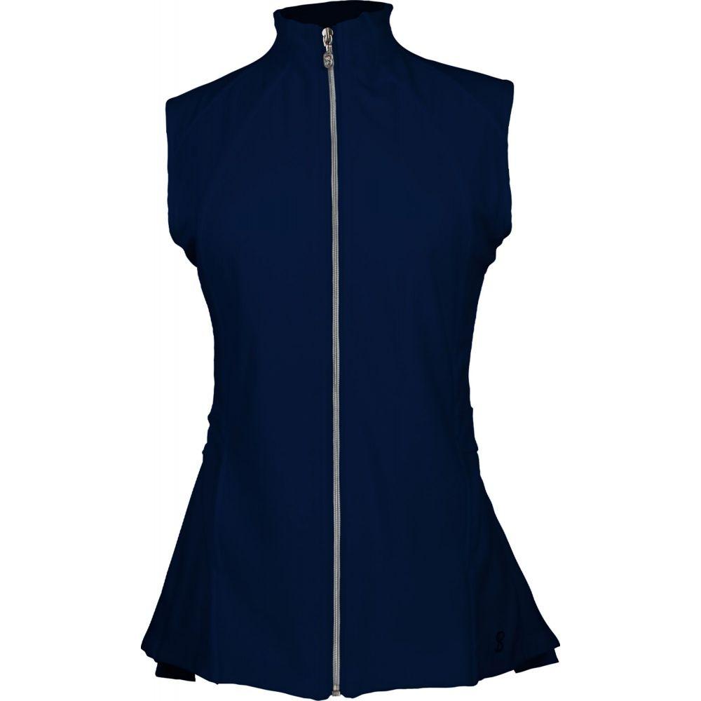 ソフィベラ Sofibella レディース ゴルフ ノースリーブ トップス【Pleated Golf Vest】Navy